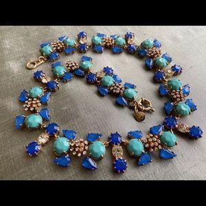 ❤️JCrew Blue Rhinestone-Crystals Choker Necklace